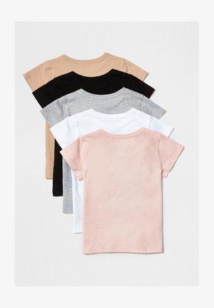 5 PACK - T-shirt med print - pink
