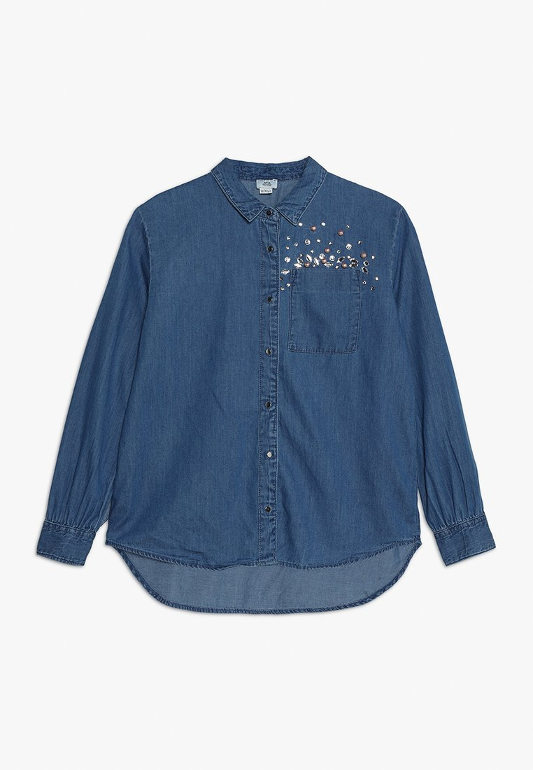 River Island - Skjortebluser - blue denim