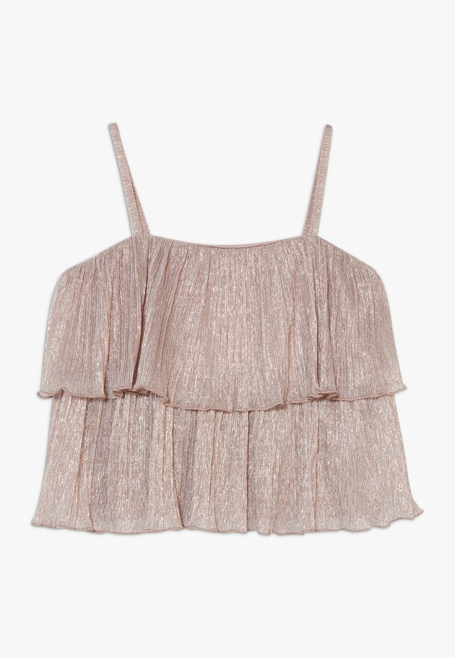 PLEAT - T-shirt con stampa - rose gold