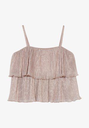 PLEAT - Triko s potiskem - rose gold