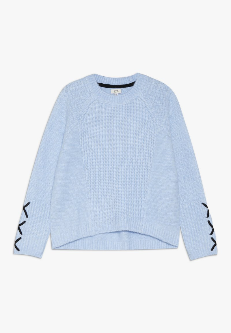 River Island - Stickad tröja - blue
