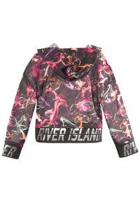 River Island - SMOKE PRINT COVER UP - Felpa con cappuccio - black - 1