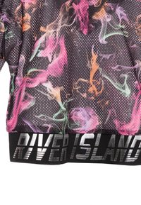 River Island - SMOKE PRINT COVER UP - Felpa con cappuccio - black - 2
