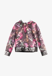 River Island - SMOKE PRINT COVER UP - Felpa con cappuccio - black - 0