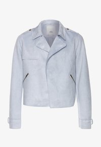 River Island - Faux leather jacket - blue light - 0