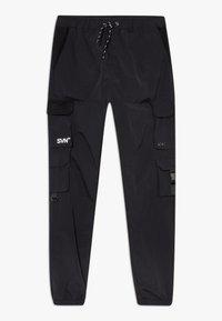 River Island - BLACK MULTI POCKET  - Cargo trousers - black - 0