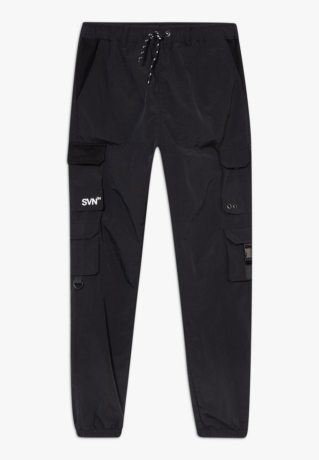 BLACK MULTI POCKET  - Cargohose - black