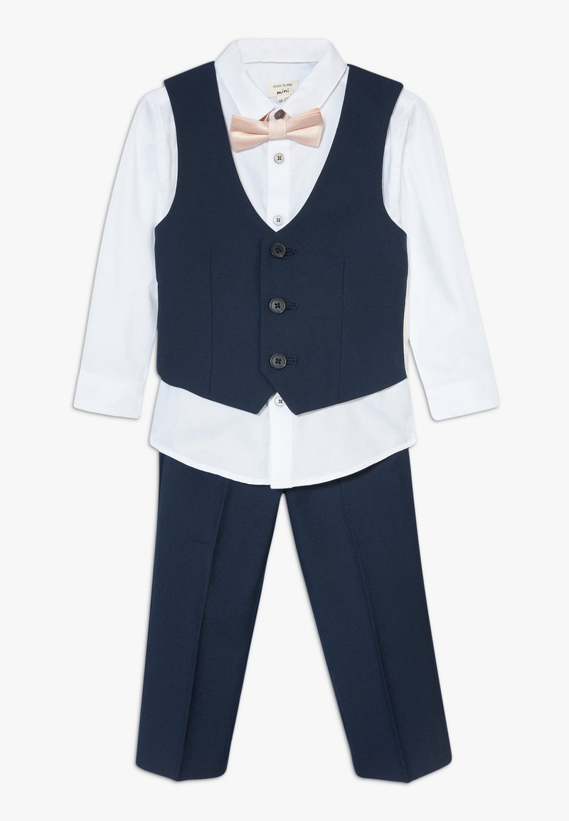 River Island - STANDARD SUIT SET - Suit waistcoat - navy