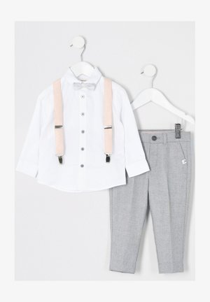 MINI BOYS GREY TROUSERS AND BRACES OUTFIT - Broek - grey