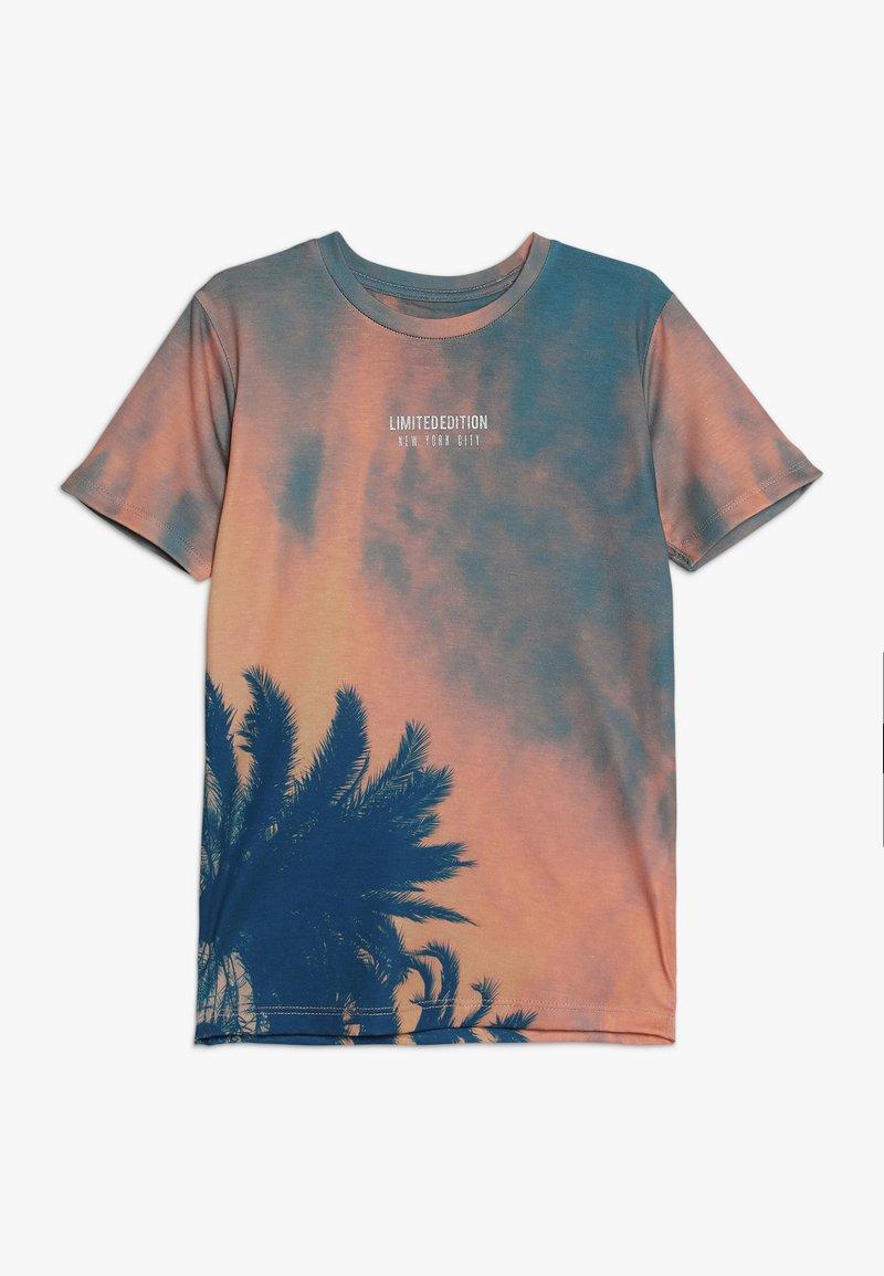 River Island - T-shirt med print - orange