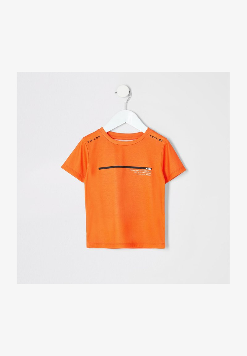 River Island - Camiseta estampada - orange