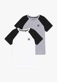 River Island - 2 PACK - T-shirt imprimé - white - 0