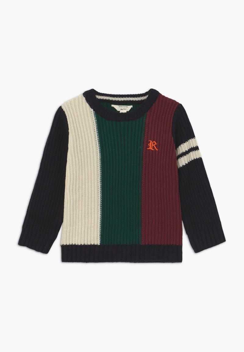 River Island - BLOCKED LOGO JUMPER - Svetr - multi