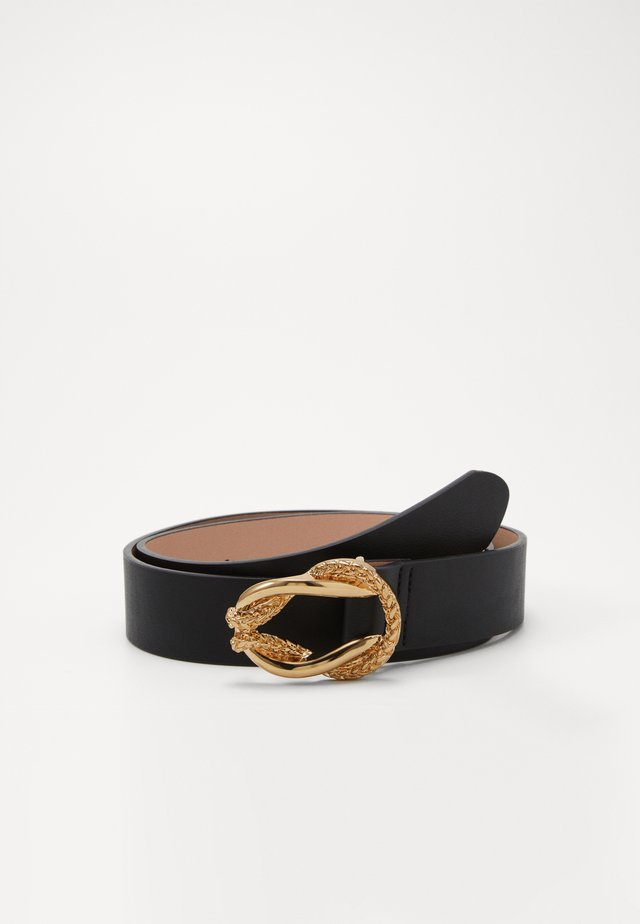ROPE TWIST BUCKLE BELT - Skärp - black