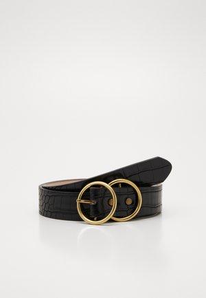 ANTIQUE DOUBLE RING BELT - Pásek - black