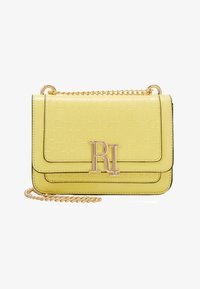 River Island - EMBOSSED SATCHEL - Torba na ramię - yellow - 1