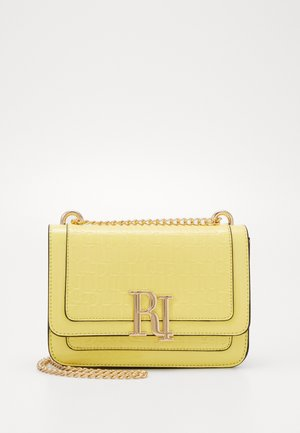 EMBOSSED SATCHEL - Across body bag - yellow