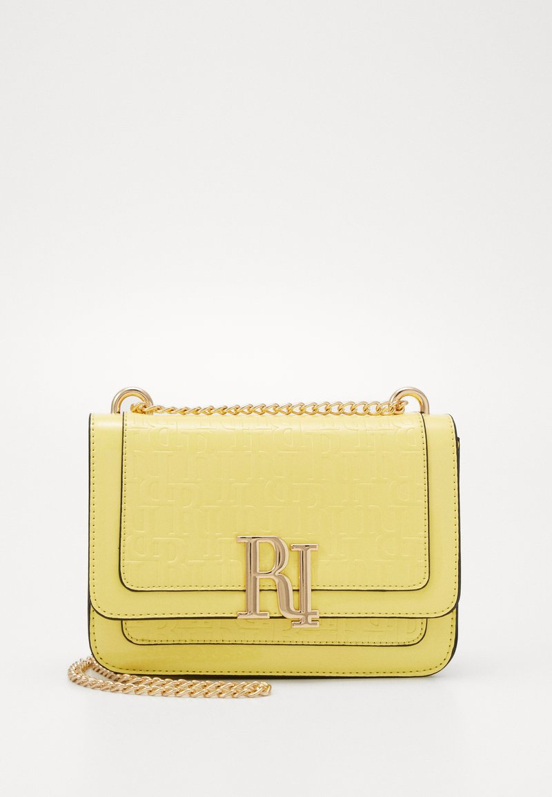 River Island - EMBOSSED SATCHEL - Torba na ramię - yellow