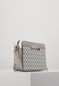 River Island - MONOGRAM BOXYLIGHT GREY - Across body bag - light grey - 4