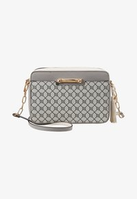 River Island - MONOGRAM BOXYLIGHT GREY - Across body bag - light grey - 1