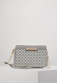 River Island - MONOGRAM BOXYLIGHT GREY - Across body bag - light grey - 0