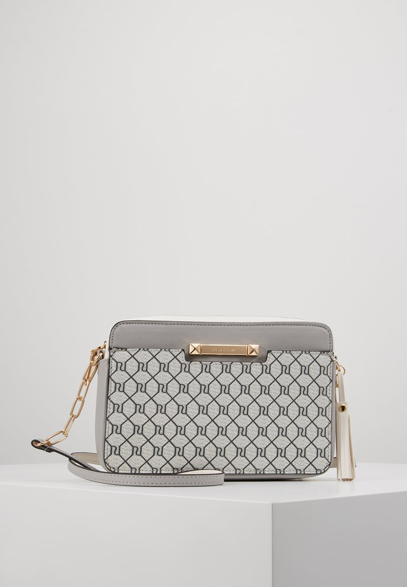 River Island - MONOGRAM BOXYLIGHT GREY - Across body bag - light grey