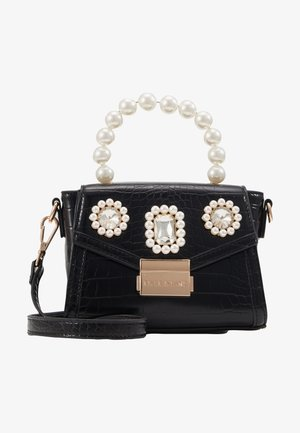 MINI EMBELLISHED GRAB HANDLE - Schoudertas - black