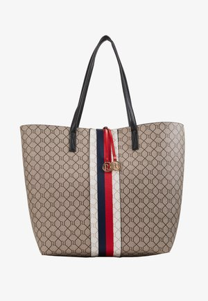 MONOGRAM LOCK SHOPPER - Bolso shopping - beige