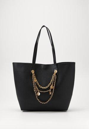 CHARM CHAIN SHOPPER - Shopping bag - black