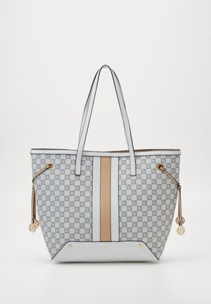 CHECKERBOARD SHOPPER - Shopping bag - grey