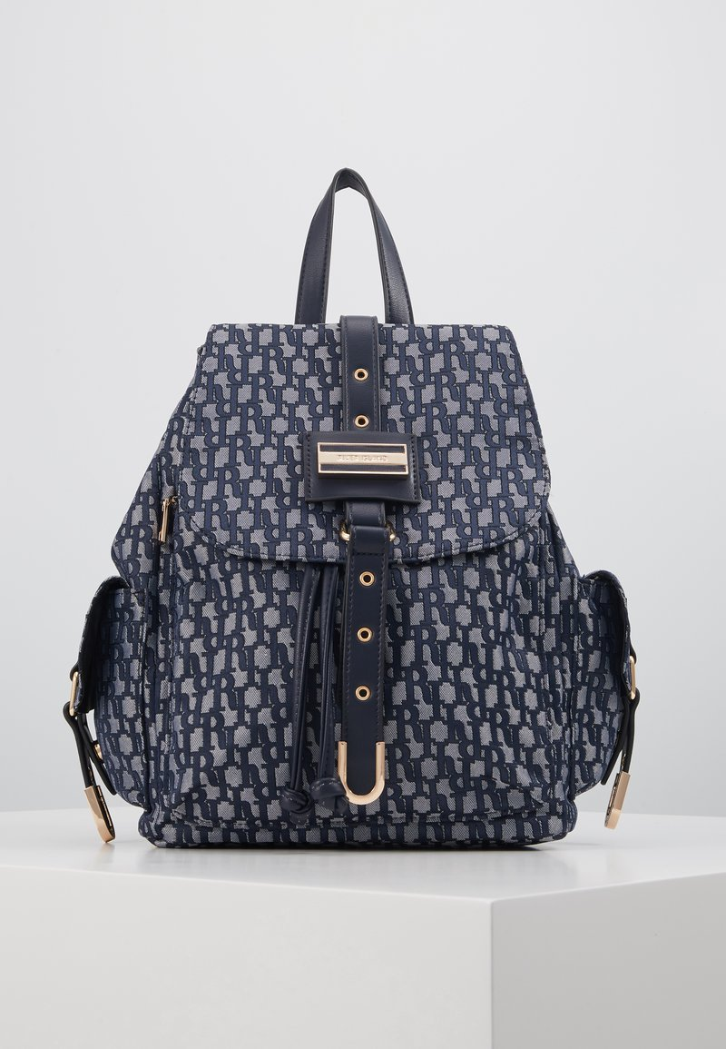 River Island - LOCK FRONT BACKPACK - Sac à dos - blue