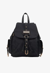River Island - LOCK FRONT BACKPACK - Reppu - black - 1