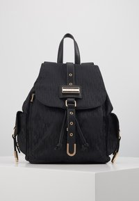 River Island - LOCK FRONT BACKPACK - Reppu - black - 0