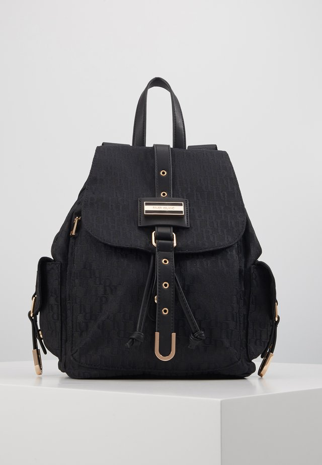 LOCK FRONT BACKPACK - Rucksack - black