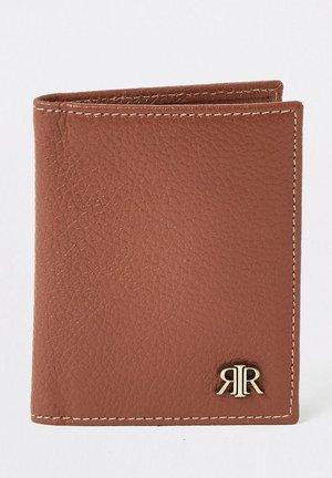 BROWN TEXTURED RIR WALLET - Wallet - brown