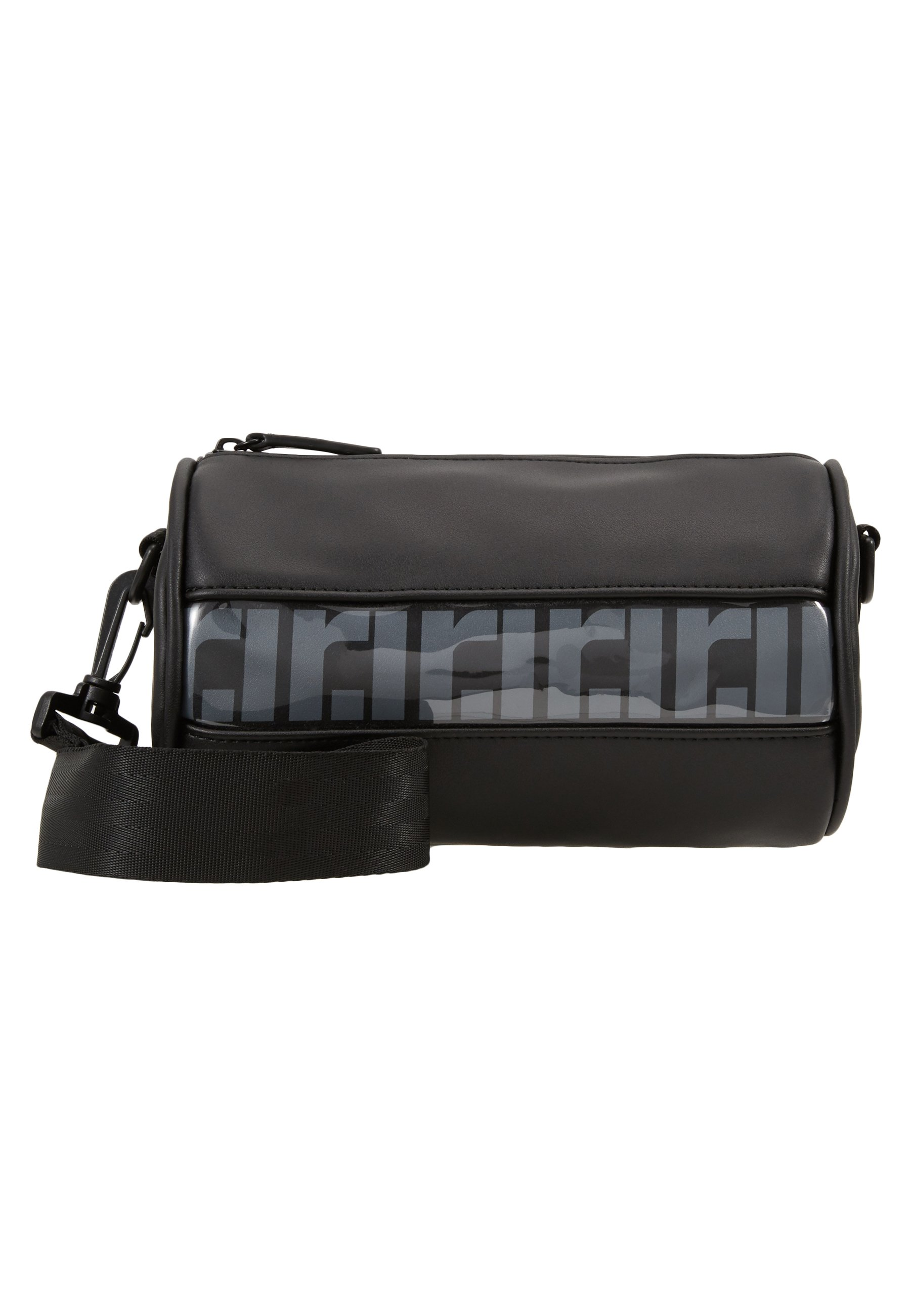 River Island RI MONO PVC BARREL - Weekendveske - black