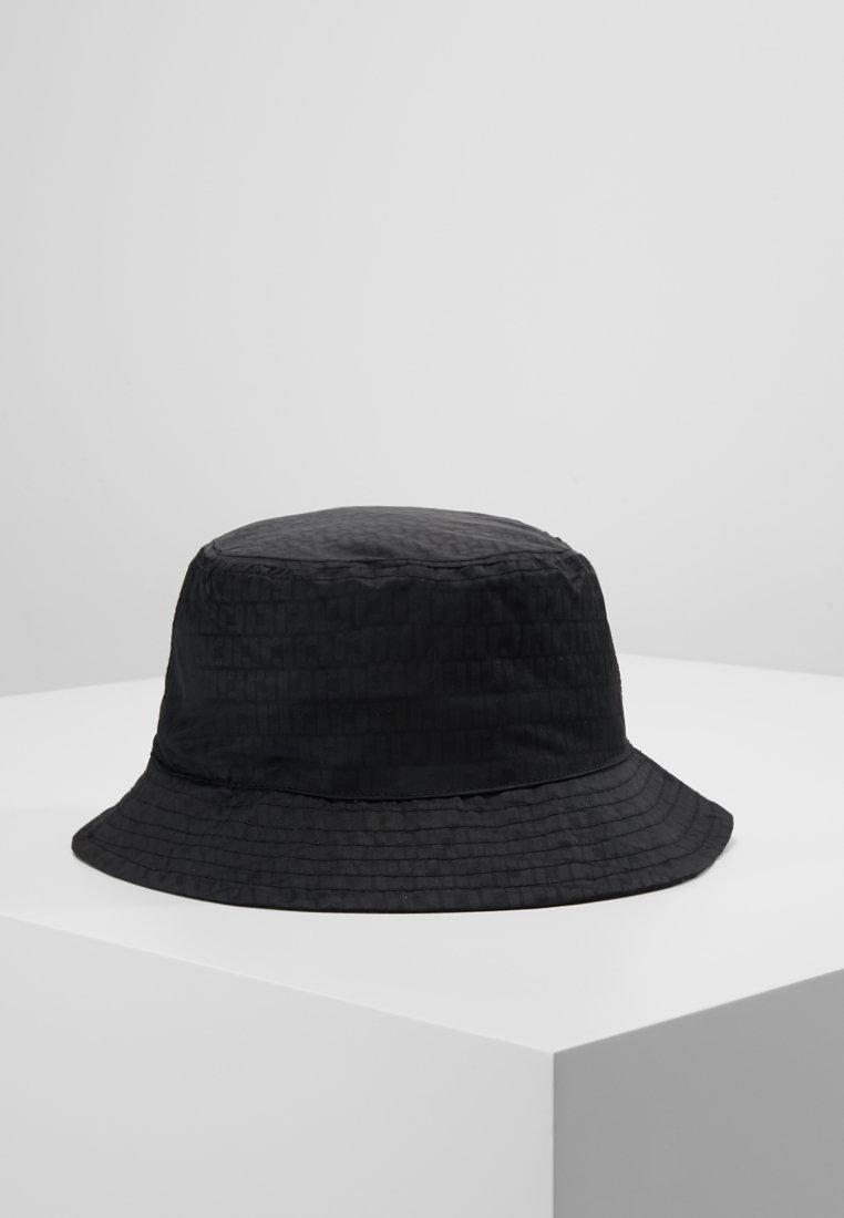 River Island - MONOGRAM BUCKET HAT - Hoed - black