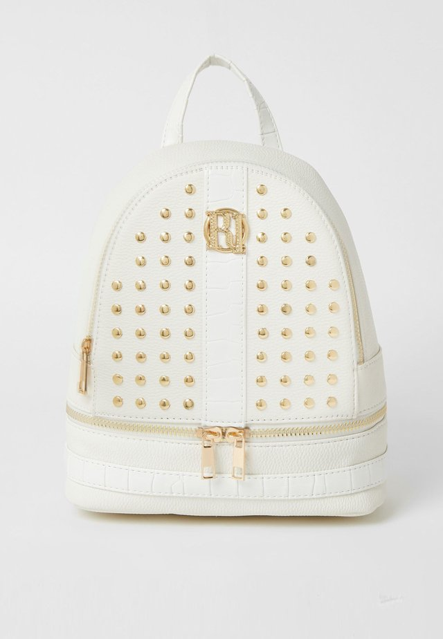 GIRLS WHITE STUDDED BACKPACK - Zaino - white