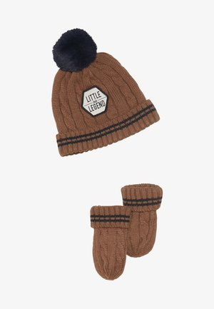 SET - Beanie - light brown