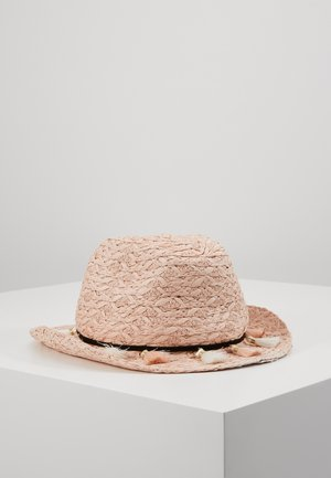STRAW FLOPPY HAT - Hatt - pink