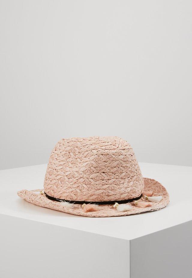 STRAW FLOPPY HAT - Hat - pink