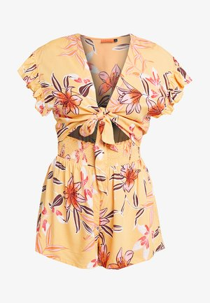 FLORAL TIE FRONT PLAYSUIT - Overal - yellow print