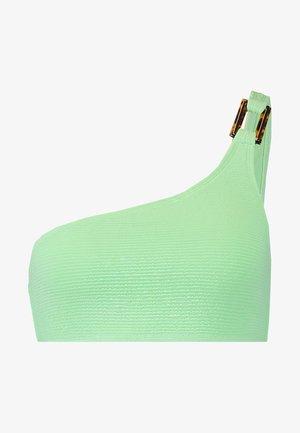 TEXTURED ONE SHOULDER CAMI - Top de bikini - green light