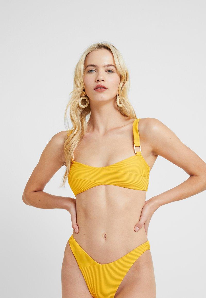 River Island - WRAP CAMI - Bikini-Top - orange