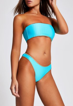 TURQUOISE TEXTURED BANDEAU BIKINI TOP - Bikiniöverdel - blue