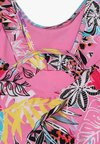 River Island - TROPICAL FRILL SWIMSUIT BABY - Bañador - pink
