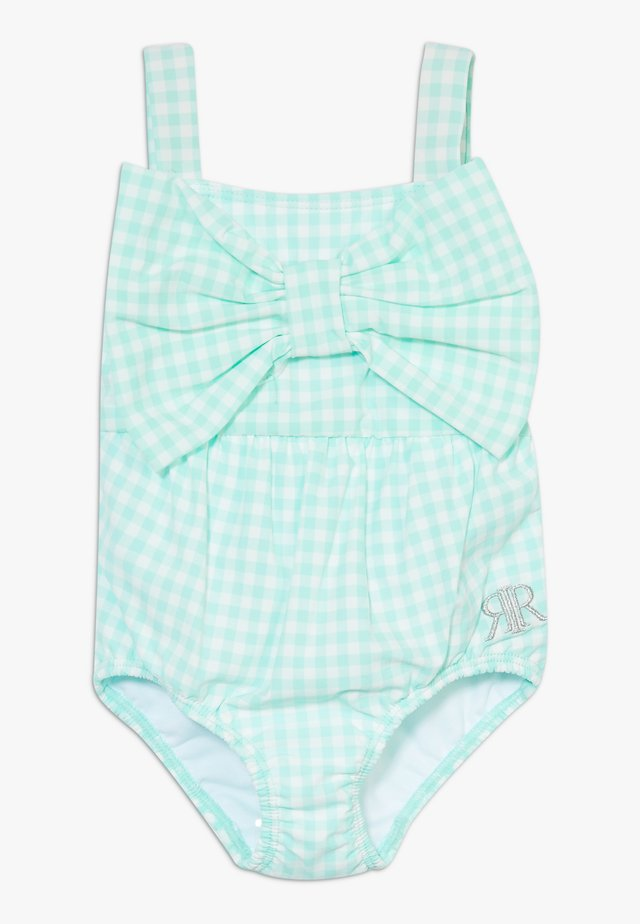 GINGHAM BOW SWIMSUIT - Badeanzug - mint