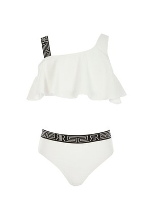 GIRLS WHITE TEXTURED ONE SHOULDER BIKINI SET - Bikiniunderdel - white