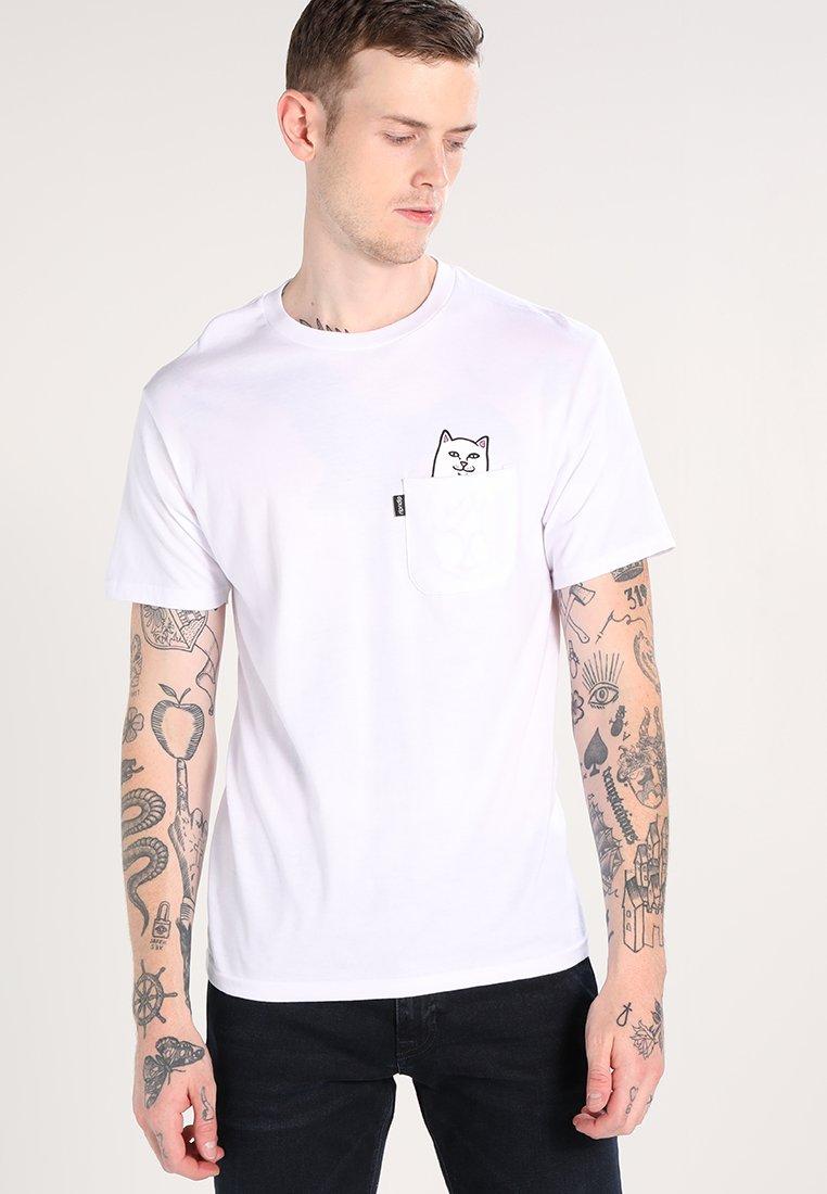 RIPNDIP - LORD NERMAL POCKET - Print T-shirt - white