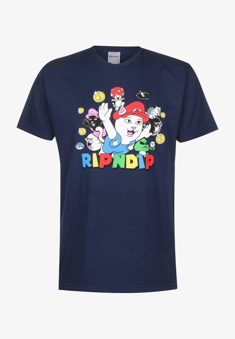 RIPNDIP - T-SHIRT NERMIO - T-shirt print - navy blue